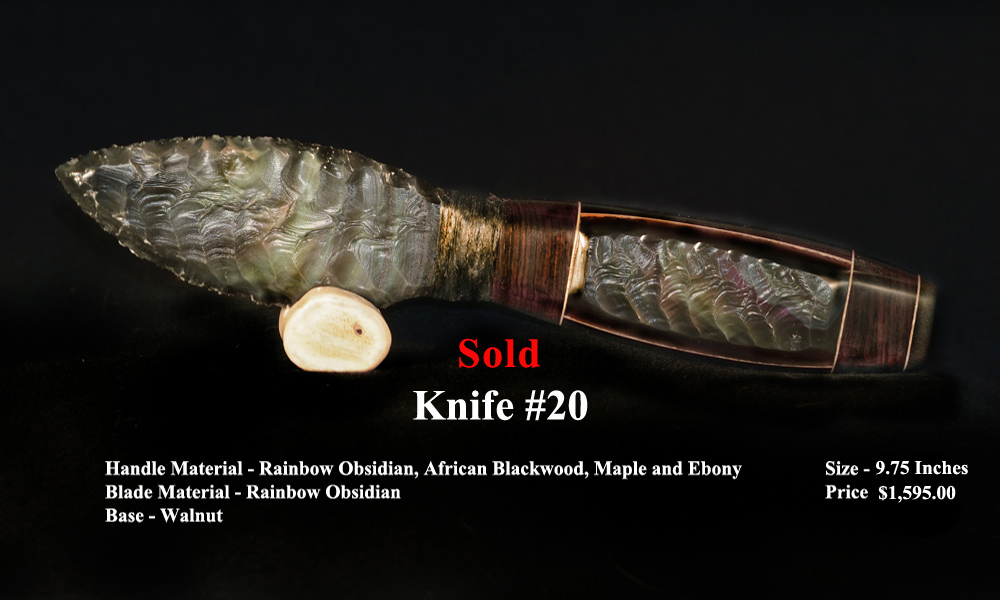 Each Knife is Signed and Numbered by George Barnett